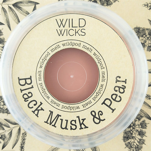 Wild Wicks Black Musk & Pear Wildpod Soy Melt