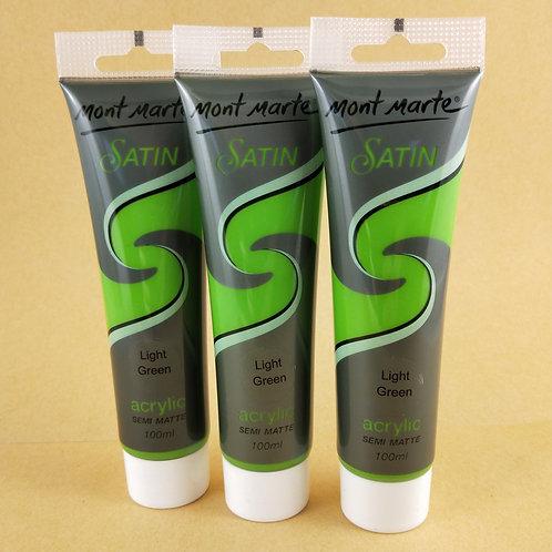 Mont Marte Satin Acrylic Paint 100ml - Light Green