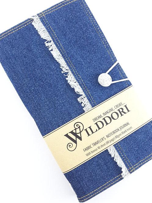 Wilddori 'Frayed Denim' Traveler's Notebook Journal
