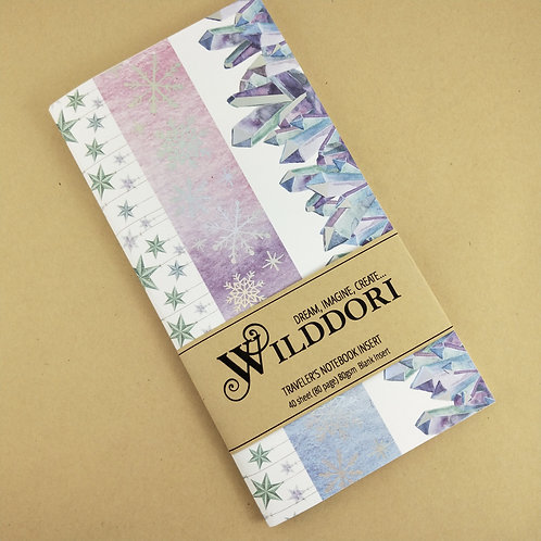 Wilddori 'Crystal Wonderland Stripes' Blank Regular Traveler's No