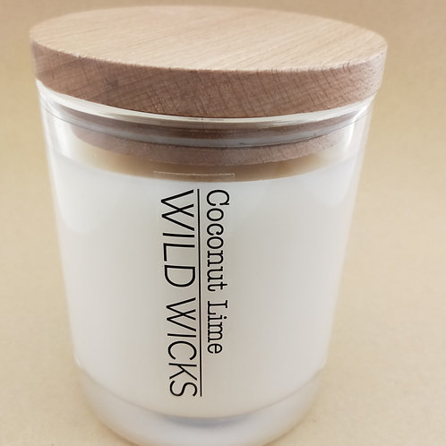 Wild Wicks Wild Natural Collection Large Soy Candle with Wooden Lid