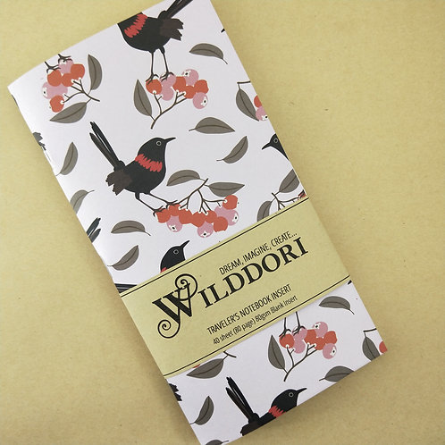 Wilddori 'Scarlet Wren' Blank Regular Traveler's Notebook Insert