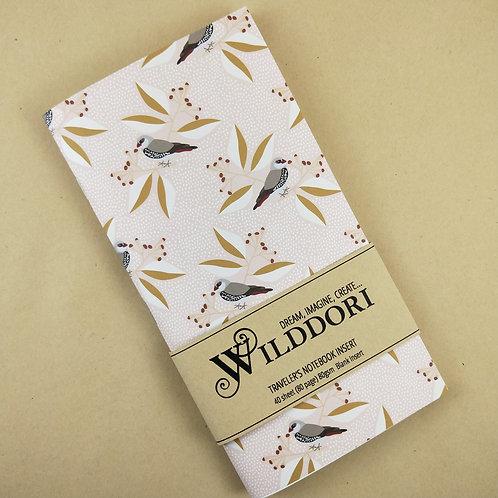 Wilddori 'Australian Florals Finch ' Blank Regular Traveler's Note