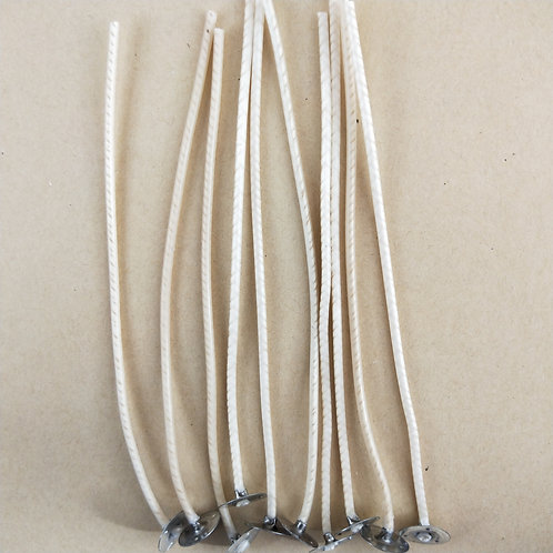 CDN 22 - 15cm Tabbed Candle Wick - Pack of 10