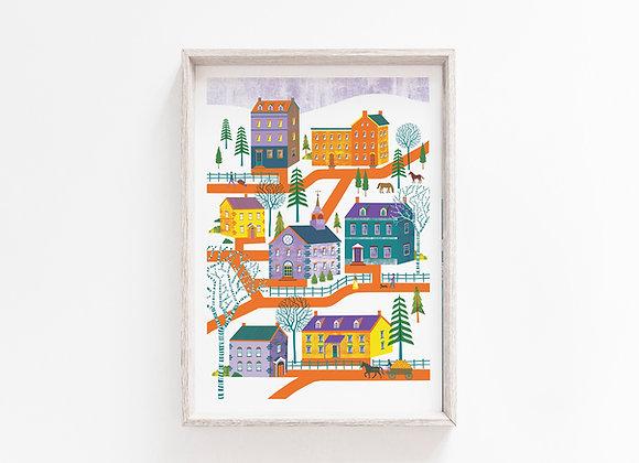 Pennsylvania A4 Art Print