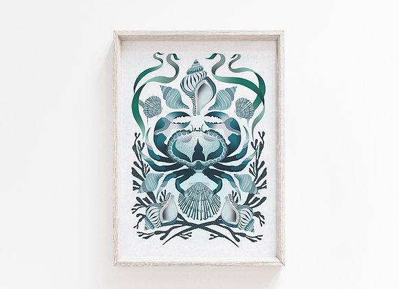 Shore Line A4 Art Print