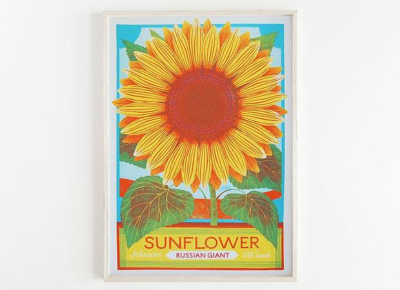 Sunflower A3 Risograph Print