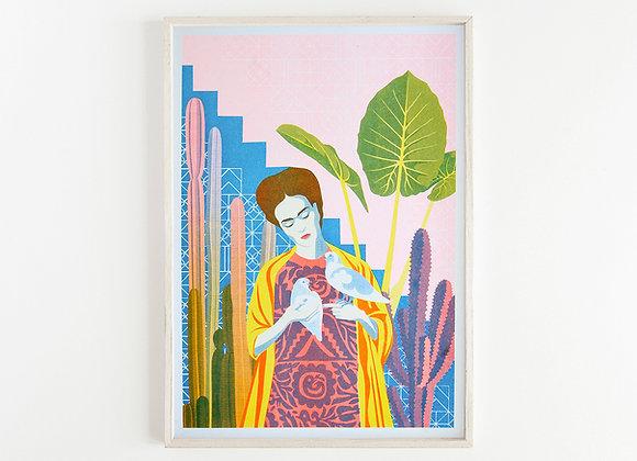 Frida A3 Risograph Print