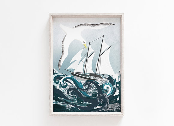 High Seas A4 Art Print