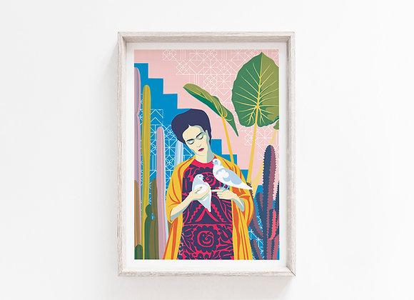 Frida A4 Art Print