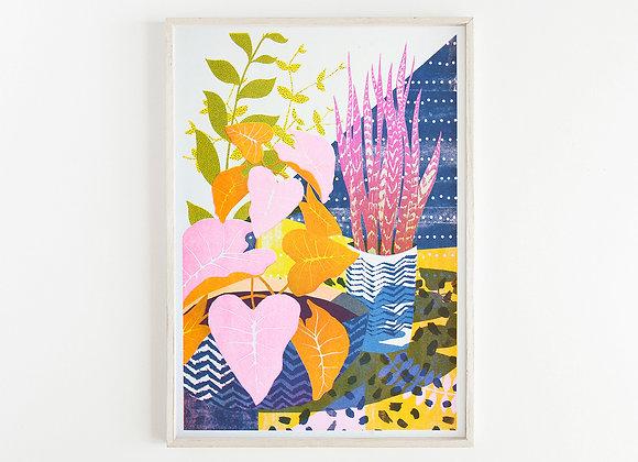 House Plants A3 Risograph Print