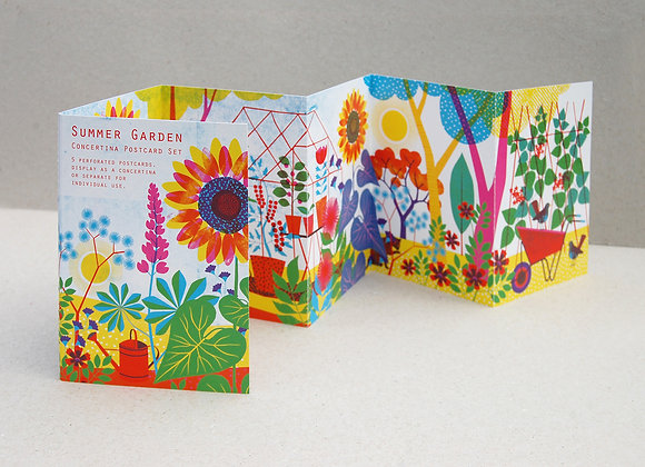 Summer Garden Concertina Postcard Set
