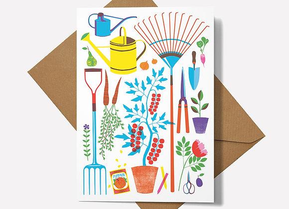Garden Tools Card
