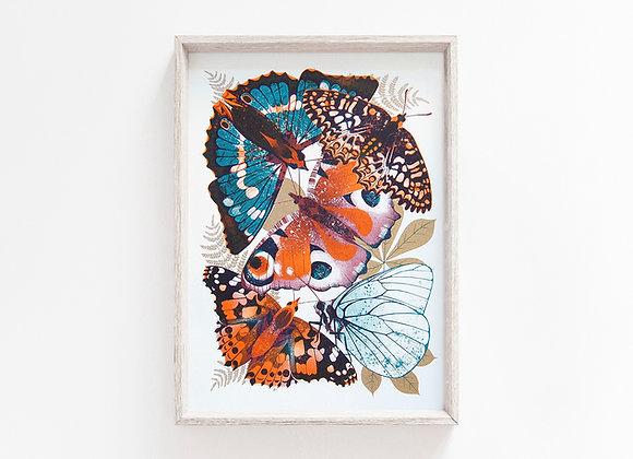 Wings A4 Risograph Print