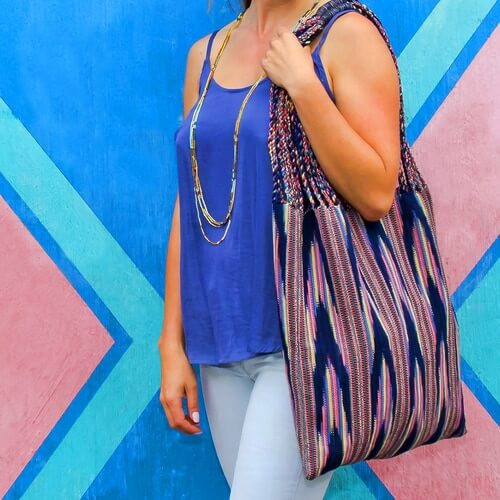 Braided Natural Dye Bag - $65