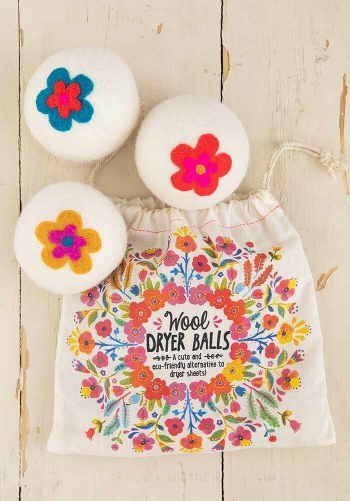 Floral Wool Dryer Balls - $24