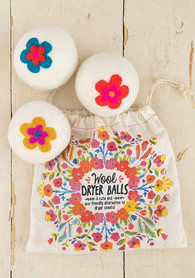 Floral Wool Dryer Balls - $24