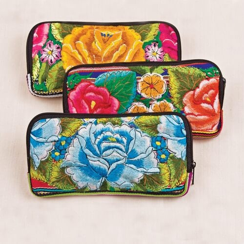 Floral Checkbook Wallet - $22