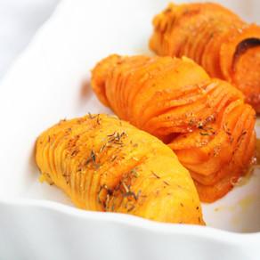 Hasselback zoete aardappelen