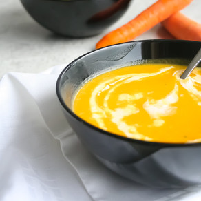 Zoete aardappel- wortelsoep