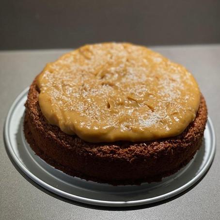 Walnotentaart met soja-honing crème