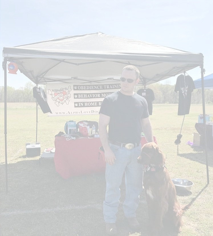 Garrett & Champ at the K9 Heroes event