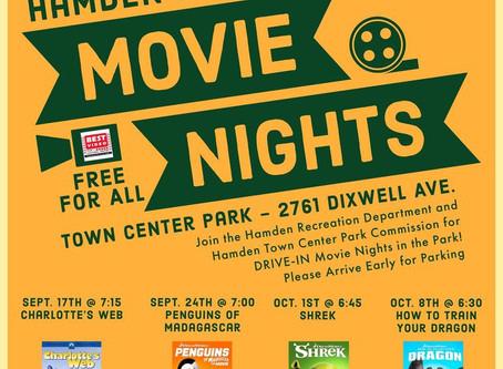 Hamden Drive in Movie Nights