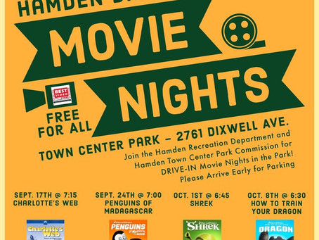 Hamden Drive in Movie Nights