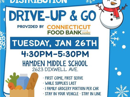 Hamden Free Food Distribution: January 26th