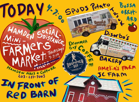 Farmers Market Tonight (Thursday July 30th) Back in Front of the Red Barn!