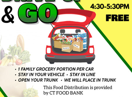 Drive Up & Go, Free Food Distribution