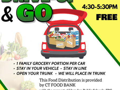 Drive Up & Go, Free Food Distribution