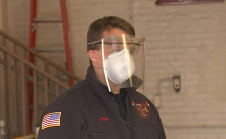 (Via WFSB Eyewitness News 3) Hamden High Student Makes Face Shields