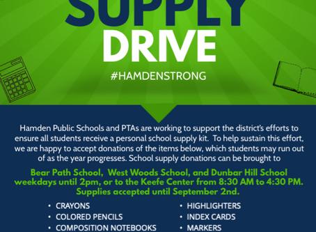 Help Hamden Students: School Supply Drive EXTENDED