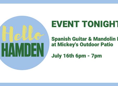 Spanish Guitar & Mandolin Duo Tonight (July 16th) at Mickey's