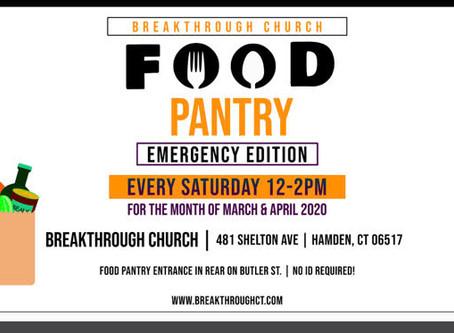 Food Pantry at Breakthrough Church in Hamden