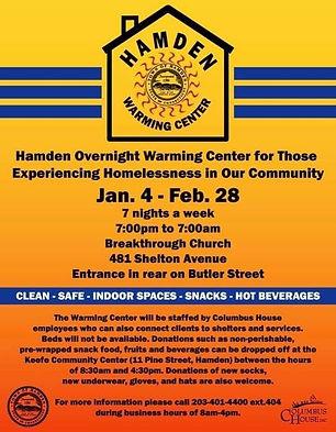 Hamden Warming Centers