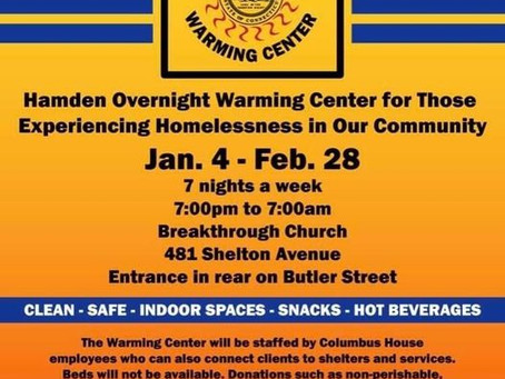 Warming Centers Available