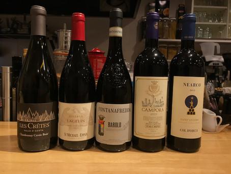 本日新着ワイン。