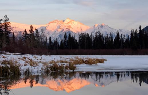 Sunset at Vermillion Lakes
