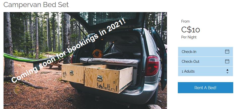 Campervan bed set rental.PNG