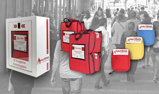 Kit d'urgence hémorragique complet 4 trousses