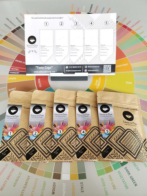 Kit TESTE CEGO - Pacotes de 100g