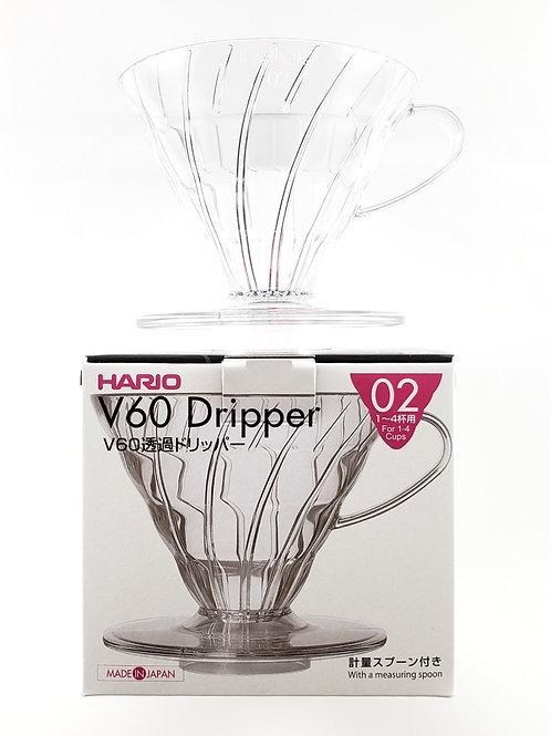 Coador de Café Hario V60 tamanho 02 Acrílico Transparente