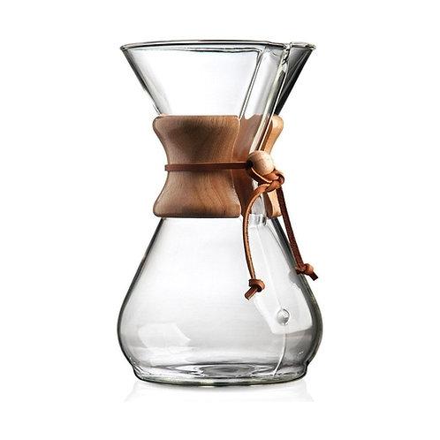 Passador de café com alça de madeira para 6 xícaras |Chemex |CH-CM6A 000745