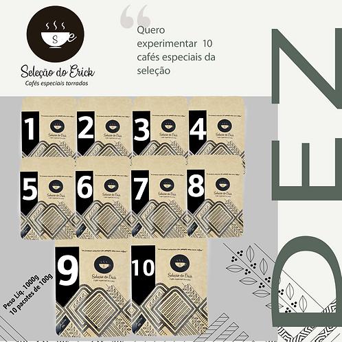 "Kit 1kg - ""Starter kit"" - 10 cafés de 100g cada"
