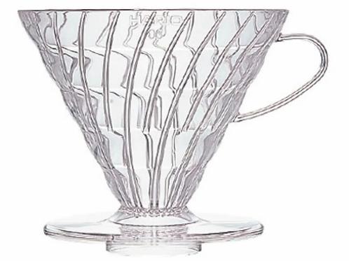 Coador de Café Hario V60 tamanho 03 Acrílico Transparente