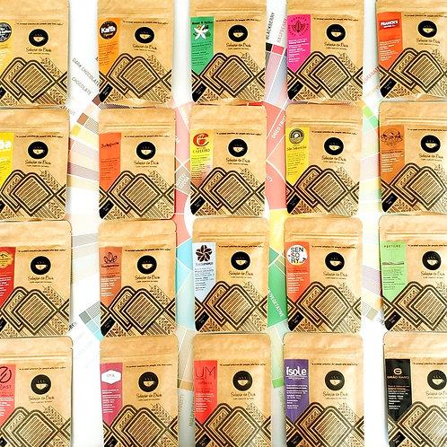 Coffee Taster kit - 15 cafés de 30g cada