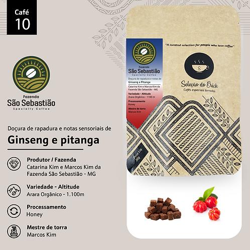 Café 10 - Fazenda São Sebastião - Sensorial Ginseng e  Pitanga - 100g