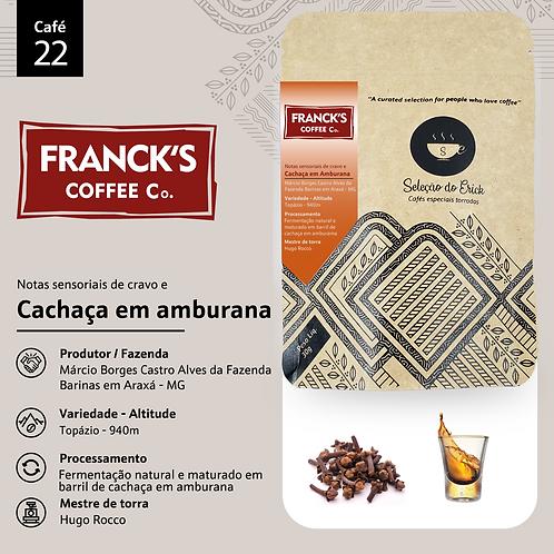 Café 22 - Francks Ultra Coffee - Sensorial Cachaça em Amburana  - 100g